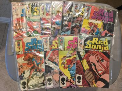 Red Sonja Comic Books from the 1980s - 11 Total