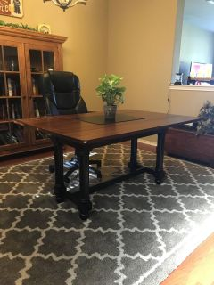 Table converts to desk or sofa table from Pier One