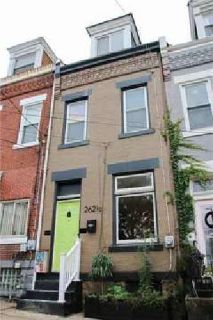 262 1/2 46th St Lawrenceville Three BR, Brick row house on a low