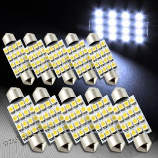 Find 10x 41mm 16 SMD White LED Festoon Dome Glove Box Trunk Replacement Light Bulbs motorcycle in Walnut, California, United States