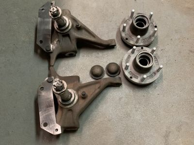S10 spindles C5 corvette brake upgrade