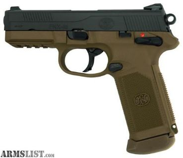 For Sale: NEW IN CASE FN FNX-45 DA/SA MS .45ACP BLACK SLIDE/FDE 15RD