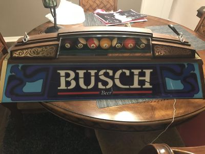 Vintage Busch Pool table light in working condition