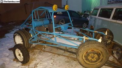 VW sandrail dune buggy with trailer