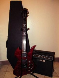 $749.99 OBO B.C. Rich Mockingbird ST Electric Guitar w/Amp & Coffin Case-MUST SELL