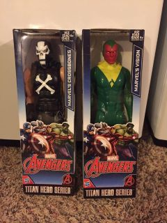 Avengers Crossbones and Vision action figures