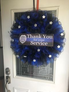 Police service wreath