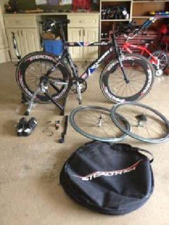 $1,200 Schwinn Road-Tri bike & Accessories
