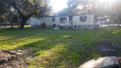 Waterfront 2/1 Mobile Home Concrete boat dock,Large backyard. Scenic View
