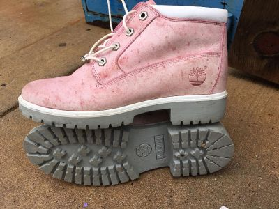 Pink Ladies Timberland Boots