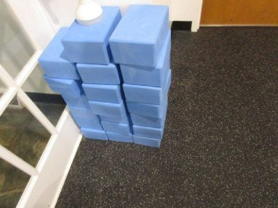 (10) Blue Yoga Blocks (9) Straps RTR#8063294-08