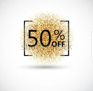 Everything is 50% off on my page