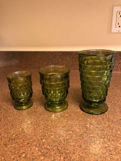 Vintage green glasses