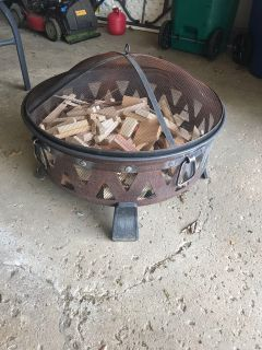 Fire Pit with wood