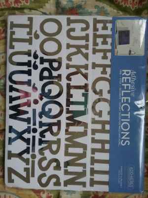 Reflective mirror letters, 2 in tall