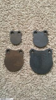 For Sale: x4 AR500 1/2 Hardened Steel Hanging Target Plates!