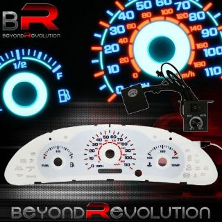 Find Indiglo Reverse Glow Gauge Dash Face MPH For 2000-2002 Cavalier L4 2.2L 2.4L motorcycle in La Puente, California, United States, for US $22.99