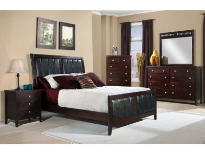 NEW WOOD 6 PC BEDROOM SET $40.00 Down. Take Home Today!!