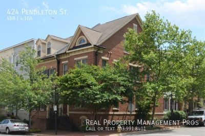 Immaculate End Unit Town Home in Old Town, Alexandria!
