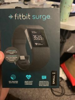 Fitbit surge used 2ce mint condition with box and cord