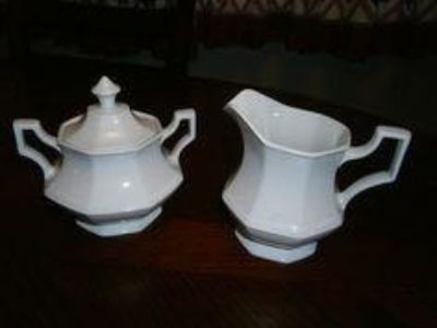 "Vintage Johnson Brothers English White Ironstone Dishes ""Heritage White."" List & Prices Below. CP."