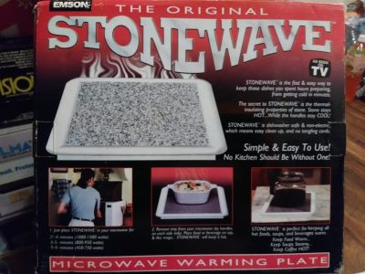 Emson Original StoneWave Microwave Warming Plate, As Seen On T.V.