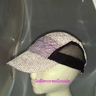 Curves Reflective Safety Hat Cap Run Jog Walk Purple Lilac Black Mesh New in Bag