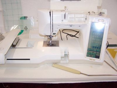 Baby Lock Embroidery Sewing Machine w extra designs and thread
