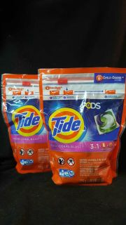 Two! 31 count Tide pods fresh coral blast