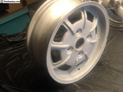 Beautiful 4 lug Porsche Mahle wheels Bead Blasted.