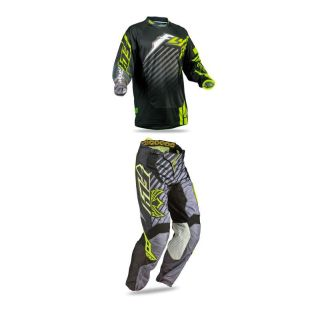 Purchase Fly Racing Kinetic RS Black Yellow Mens Kit Dirt Bike Jersey & Pants Combo ATV motorcycle in Ashton, Illinois, US, for US $106.10