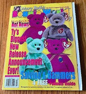 Mary Beth's Beanie World Monthly Magazine Vol. 2 No. 6 March 1999