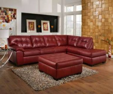 RED SECTIONAL(simmons)