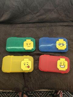 Lego containers. All four for one low price.
