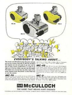 """McCulloch MC101 """"Series"""" Go Kart Race Engine- Complete For Sale"""
