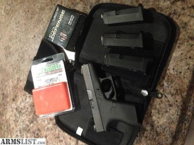For Sale: Glock 42 (380.) w/ night sights, extras.