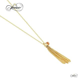 925 Sterling Silver Small Tassel Necklace 14K Gold overlay