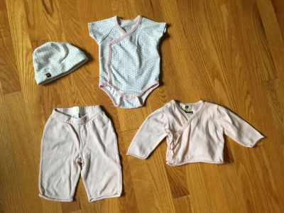 Tea collection newborn outfit