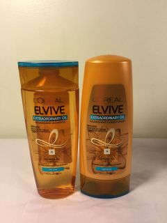 L Or al Elive Extra ordinary oil nourishing shampoo and conditioner set