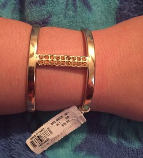 New York & Company Gold Tone Cuff Bracelet Brand New with Tags