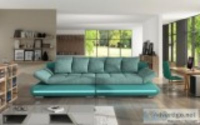 Striking design and LED lights make this sofa stand out