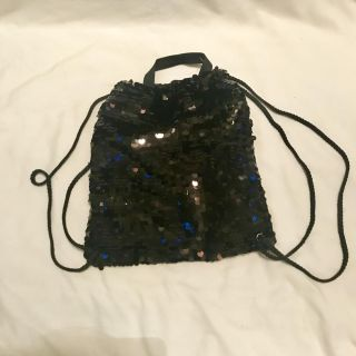 Bling black boutique drawstring backpack, small but so cute! Only $3!