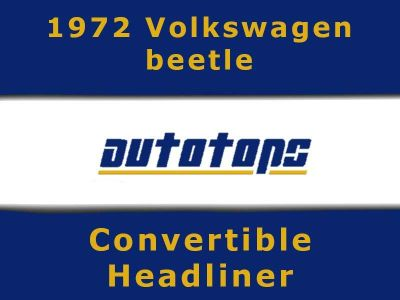 Buy 1972 VW Volkswagen Beetle Convertible top HEADLINER HEAD LINER motorcycle in Shamokin, Pennsylvania, US, for US $175.00
