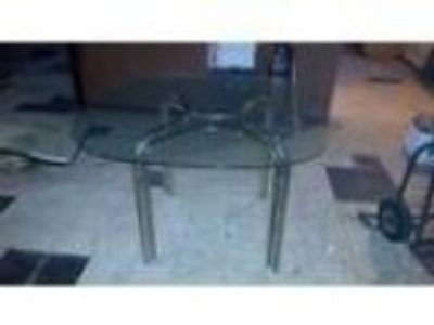 Vintage Glass and Brass Dining Table (Southgate)