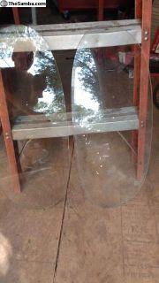 OVAL WINDOW bug beetle Rear Window Glass