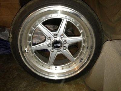 $600 OBO 16x8 4 Lug XXR Hyper Silver Rims with Tires