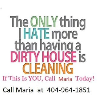 🌺 HOUSE CLEANING Cleaning By Maria 404-964-1851 Kennesaw Marietta
