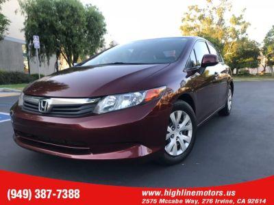 2012 Honda Civic LX (Crimson Pearl)