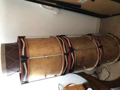 3 drums decor by pottery barn