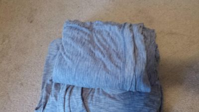 Set of soft cotton Queen sheets. These were on our guest bed. Light use. One small hole on a corner. See pictures